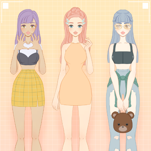 Peaches and Friends Charming Dress Up Game