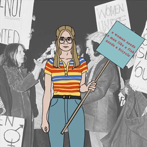 70's Gloria Steinem - Dress Up Game