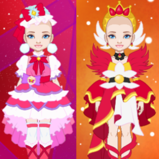 WIP: Mix and Match Red Magical Girls Outfits