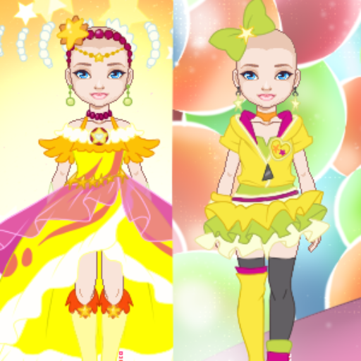 WIP: Mix and Match Yellow Magical Girls Outfits