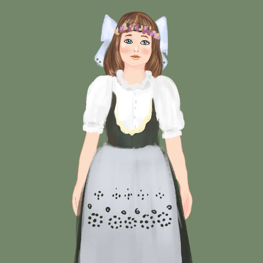 Folk costume, Czech traditional peasant girl