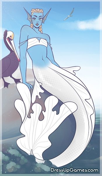 Ghostly mermaid made with Merfolk Creator