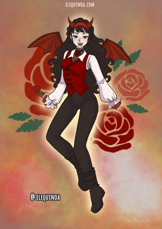 Halloween Vampire made with Anime Girl - HALLOWEEN EDITION
