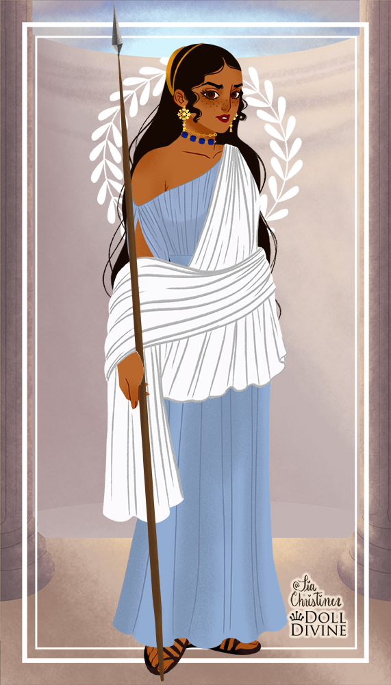 pretty Amira made with Ancient Greek Fashion