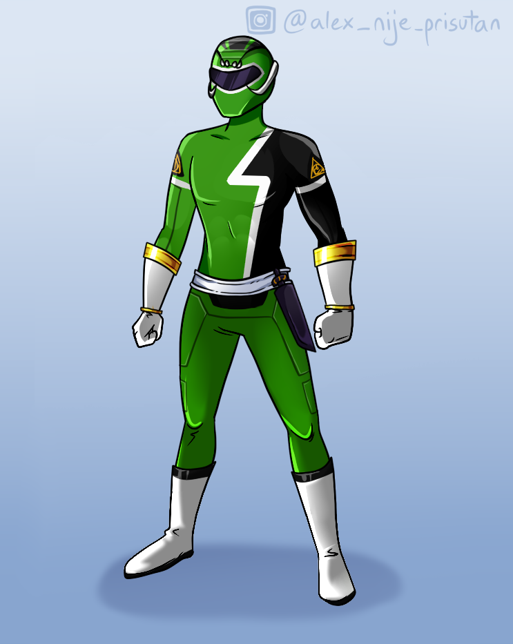 Serpent Power Ranger made with Ranger of power character Creator