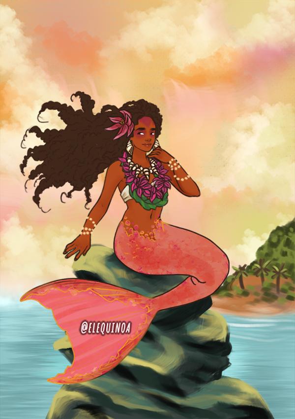 Kauai Mermaid made with Mermaid Maker