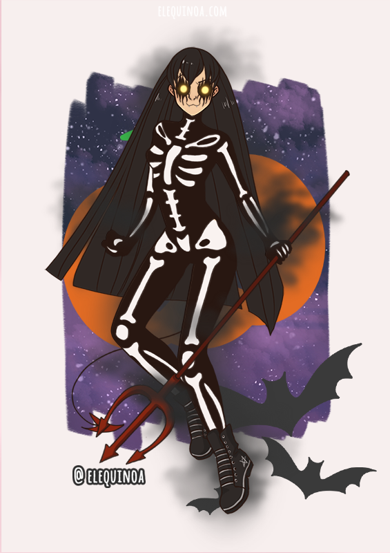 scary girl 2 uwu uwu uwu made with Anime Girl - HALLOWEEN EDITION