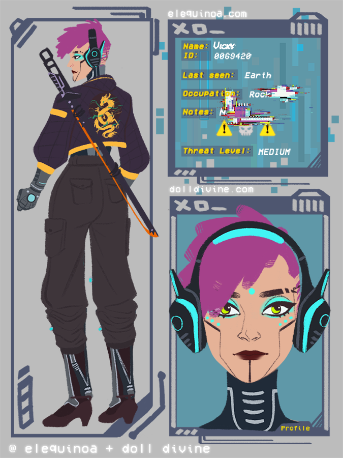 MACHINE gIRL made with Cyber Character