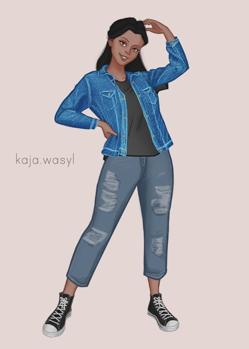 Amira reimagined as a modern girl uwu made with Modern Girl Maker