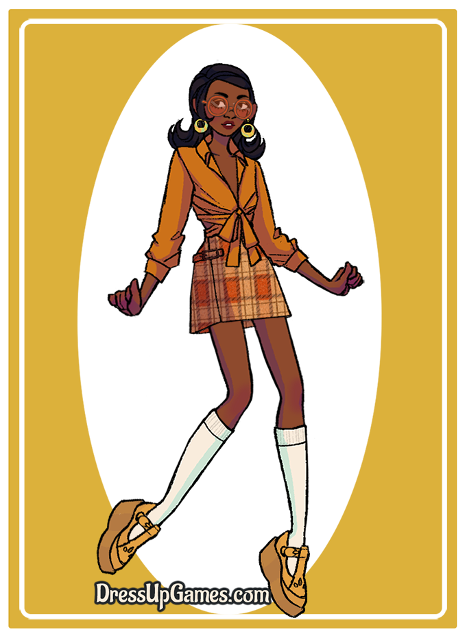 Younger Chandelle made with Groovy Retro ~ 60s and 70s Fashion