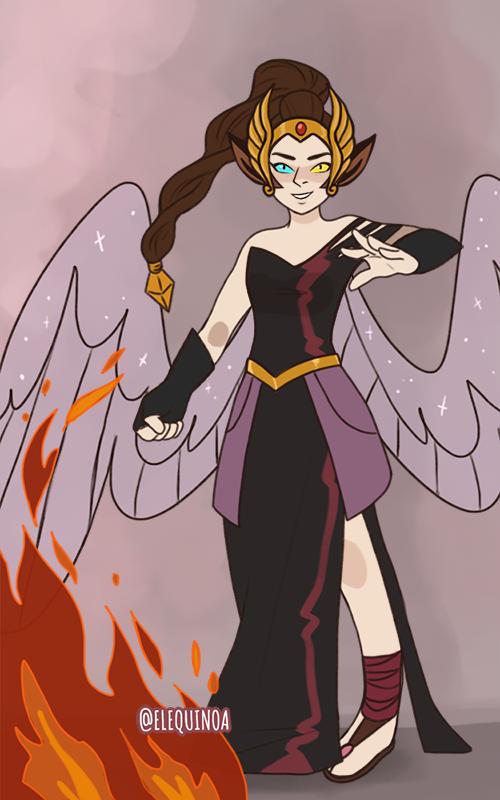 Sarah Dark custome made with Power Princess