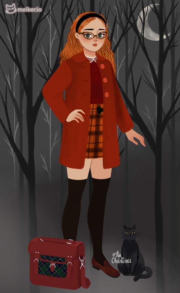 Sabrina red uwu made with Sabrina's Witchy Wardrobe