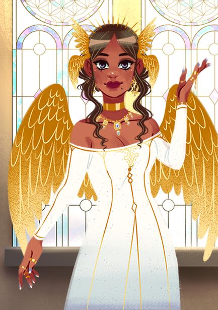 Lyra made with Fantasy Princess Maker