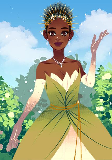 Tiana made with Fantasy Princess Maker