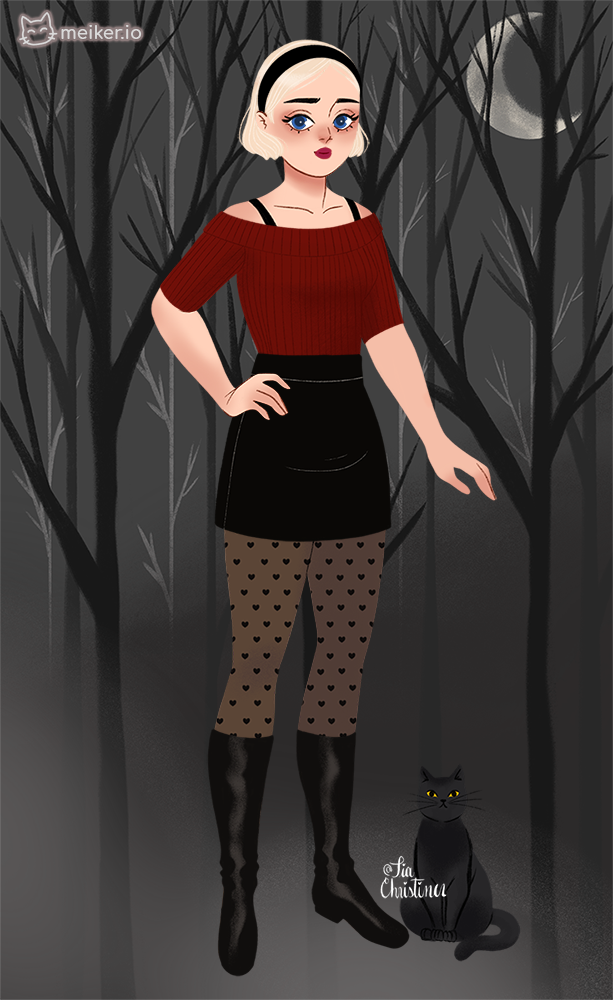 Sabrina teenage witch made with Sabrina's Witchy Wardrobe