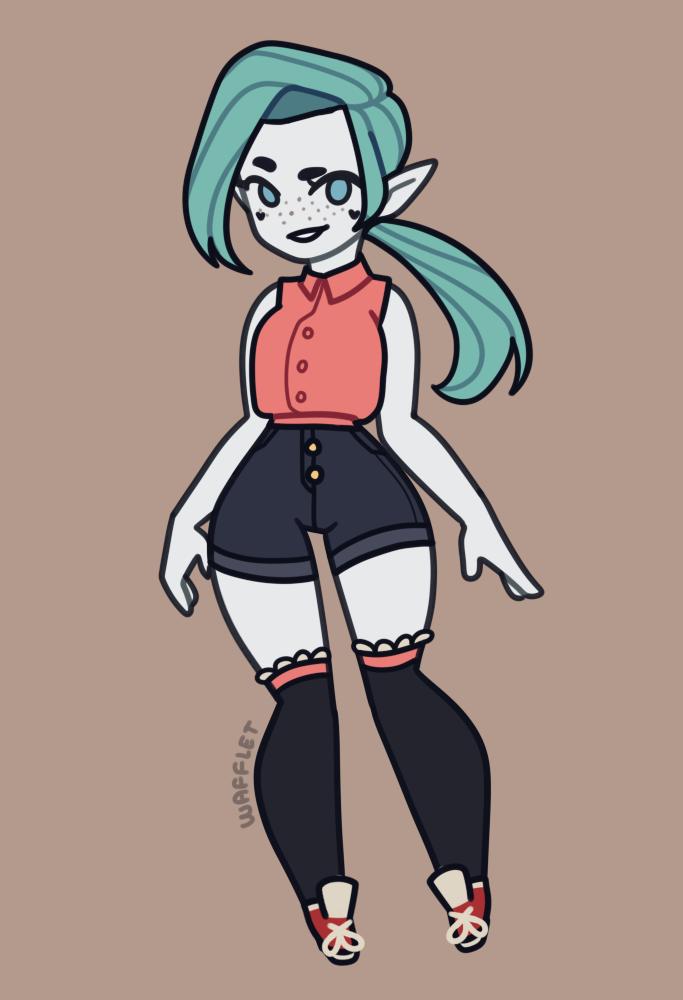 Elf Cutie made with Elf girl Maker