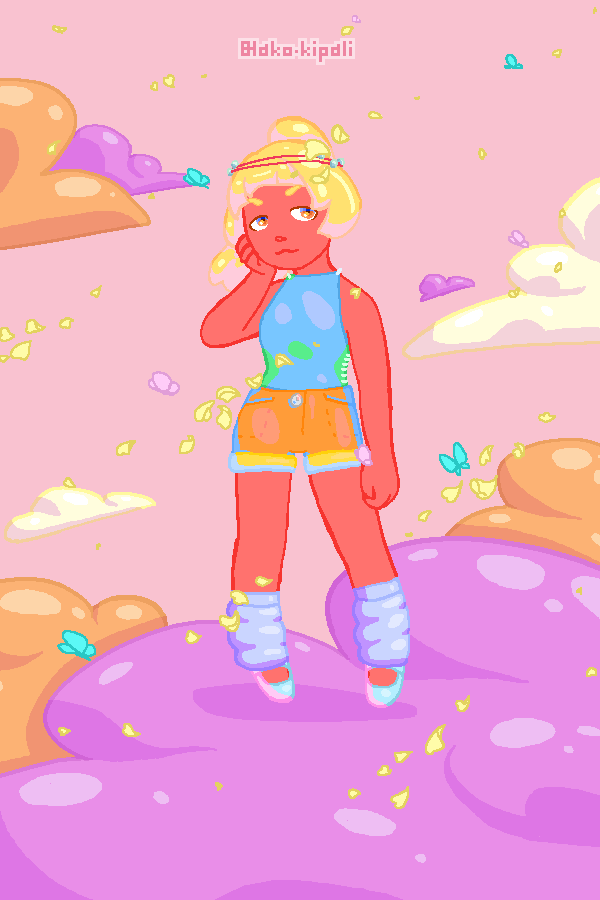 Sporty in the clouds. made with PuffPuff Princess!