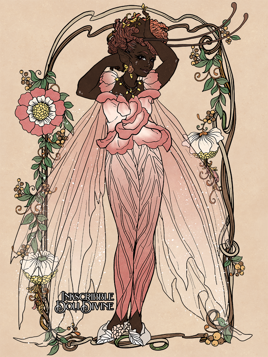 Mimi the Rose fairy made with Forest Fae