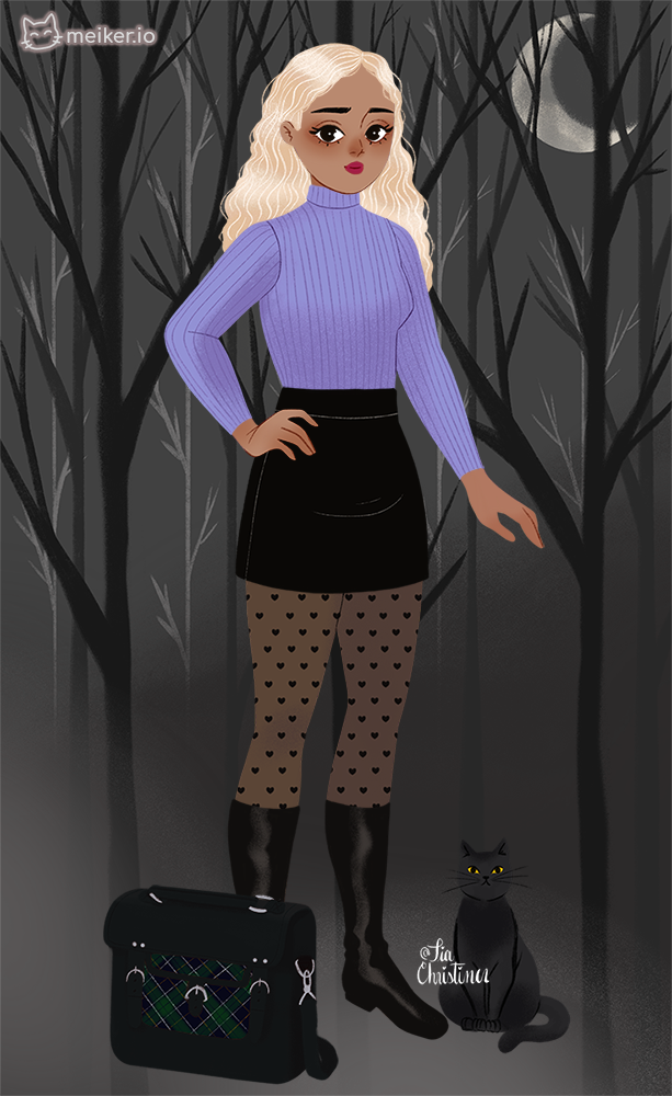 Ely made with Sabrina's Witchy Wardrobe