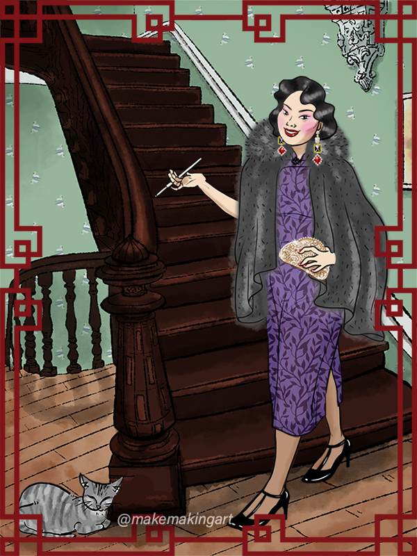 Madame Fu, Shanghai made with 1930s Vintage Chinese Dress Up Game