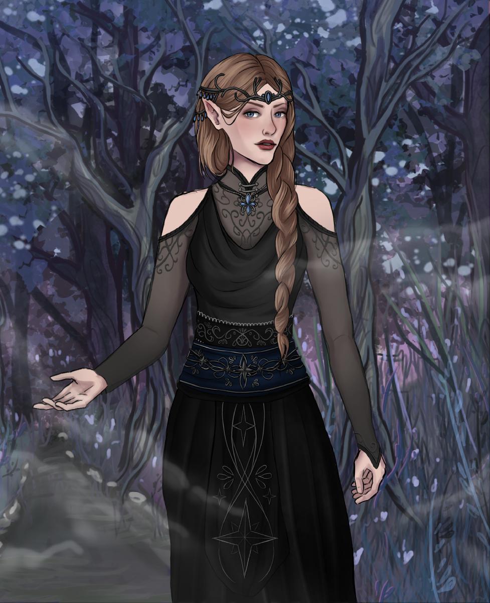 Feyre - Nightcourt made with [WIP] Elvish Character Creator RE