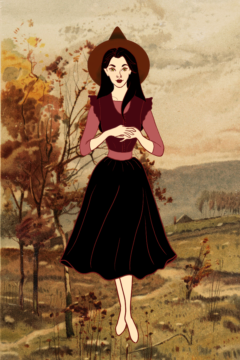 Autumn Witch made with Vintage Witch Doll