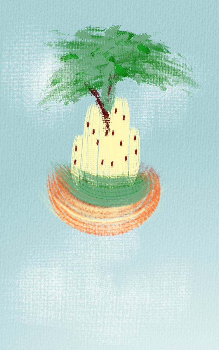 A curious castle in the sky. made with Paint your heart out!