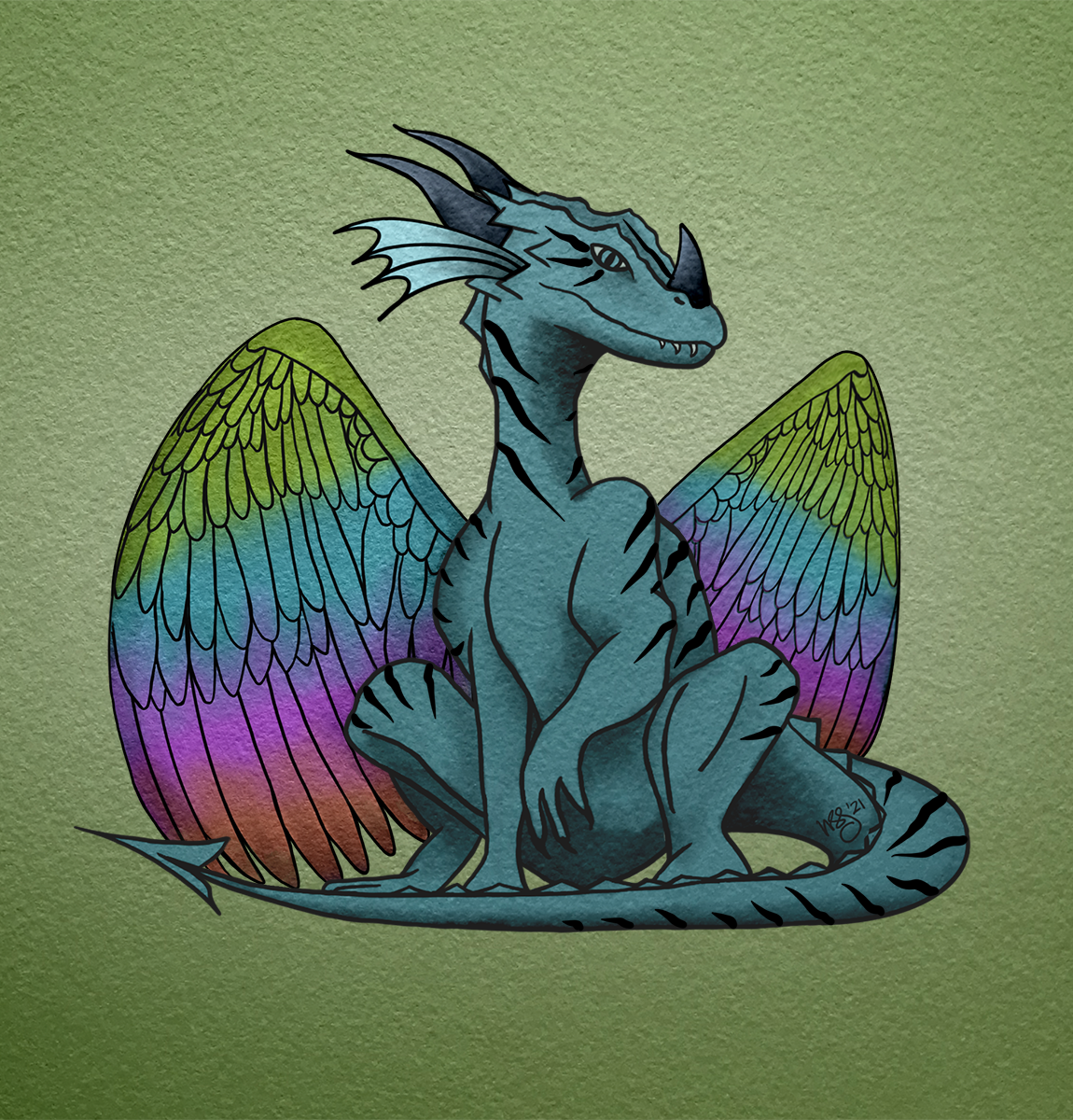 Rainforest Dragon made with Dragon Genetics